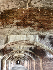 """""""An interior view of Fort Jefferson, an unfinished fortress in the Dry Tortugas of Florida. The largest masonry structure in the Americas – over 16 million bricks. It was never fired upon."""""""