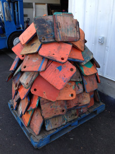 """""""Poppits are used to shim boats on tripods when they are in drydock. I thought this poppit tree at my home anchorage was ingenious and creative storage."""""""