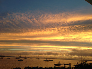 """""""Sunset at Wickford Harbor, Rhode Island, where the Blues Breaker is docked."""""""