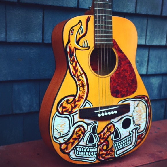 Woodsybug Guitar Art