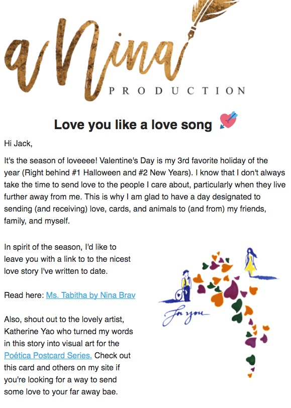 A Valentine's Day Greeting and a New Story