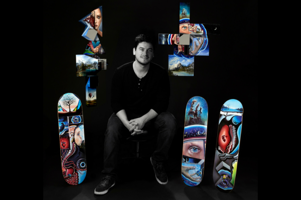 Virtuality: Steve Sangapore's Skateboard Art